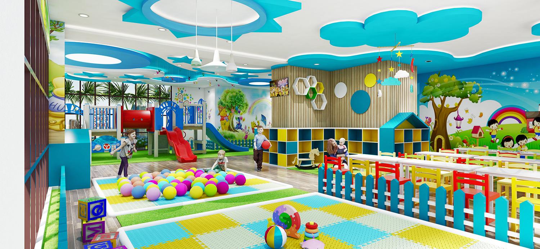 Khu vui chơi trẻ em tại dự án Paris Hoàng Kim Quận 2