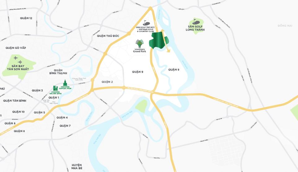Vị trí Vinhomes Grand Park Quận 9